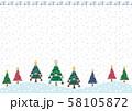 クリスマスツリーフレーム 58105872