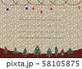 冬の景色(ベージュベース ラインあり) 58105875