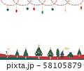 冬の景色(白背景) 58105879