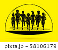 Group of Children running together cartoon graphic vector 58106179