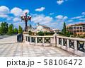 八王子市 旧四谷見附橋の橋灯メインの風景 58106472