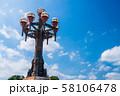 八王子市 旧四谷見附橋の橋灯メインの風景 58106478