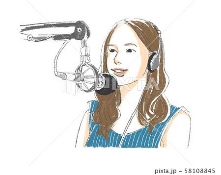 ラジオパーソナリティの女性のイラスト素材 [58108845] - PIXTA