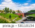 八王子市 長池公園 長池見附橋 移築された旧四谷見附橋 58110134