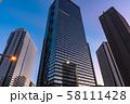 《東京都》東京の夜明け・新宿副都心 58111428