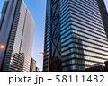 《東京都》東京の夜明け・新宿副都心 58111432