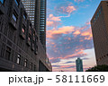 《東京都》東京の夜明け・新宿副都心 58111669