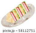 サンドイッチ・皿あり2 58112751