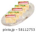 サンドイッチ・皿あり 58112753