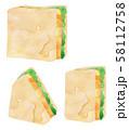 サンドイッチ・たまごイラストセット 58112758