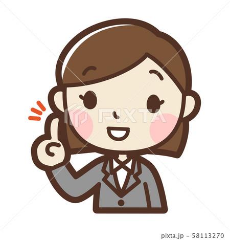 スーツの女性 提案 58113270