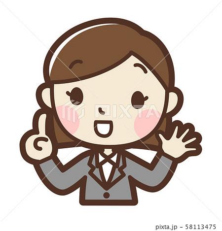 スーツの女性 提案 58113475