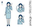 simple suit business woman_Listening 58113781
