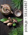 松茸と土瓶 58114867
