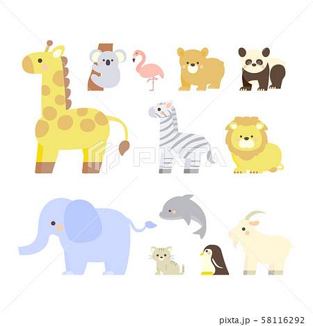 動物 イラスト セット 58116292