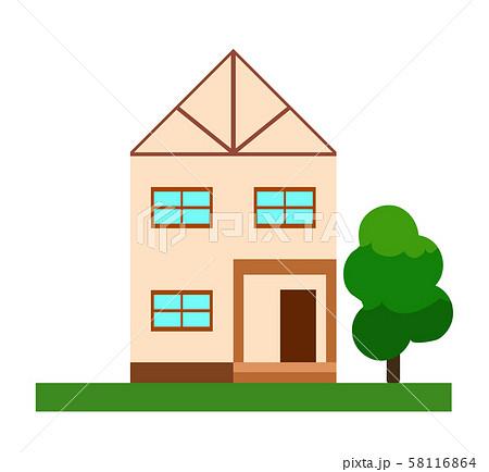 家 正面図 58116864