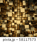 gold squares extruded background 58117573