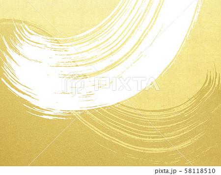 背景-和-和風-和柄-和紙-金箔-波-筆 58118510