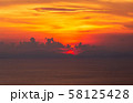 colorful dramatic sky with cloud at sunset. 58125428