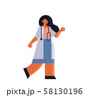 female doctor in white coat standing pose medicine healthcare concept hospital medical clinic worker 58130196