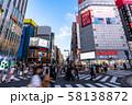 《東京都》新宿東口駅前・都市風景 58138872