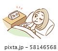 起床してすぐ基礎体温を測る女性 58146568