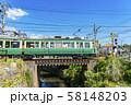 【神奈川県】江ノ電 七里ヶ浜の街並み 58148203