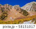 長野・紅葉の上高地岳沢 58151017