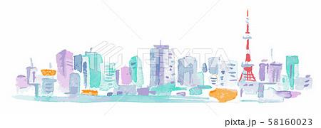 東京タワーとビル群 58160023
