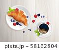 Light Breakfast Realistic Composition 58162804