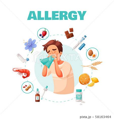 Allergy Concept Illustration 58163464