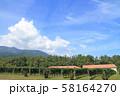 安曇野 秋のワイン用ブドウ畑 58164270