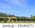 安曇野 秋のワイン用ブドウ畑 58164271