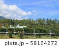 安曇野 秋のワイン用ブドウ畑 58164272