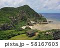 座間味島の海岸線のの空撮 58167603