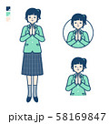 simple school girl Green Blazer_prayer 58169847