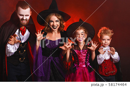 happy family mother father and children in 58174464