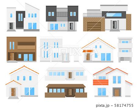住宅のイラストセット 58174755