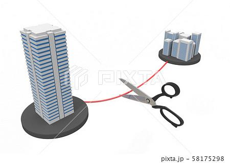 子会社を切る 契約破棄 3Dイラスト 58175298