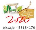 年賀状デザイン・初詣・伊勢神宮 58184170