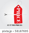 Cut prices Sale and discounts design. Vector 58187695