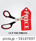 Cut prices Sale and discounts design. Vector 58187697