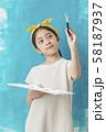 子供 ライフスタイル 絵描き 58187937