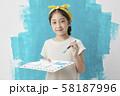 子供 ライフスタイル 絵描き 58187996