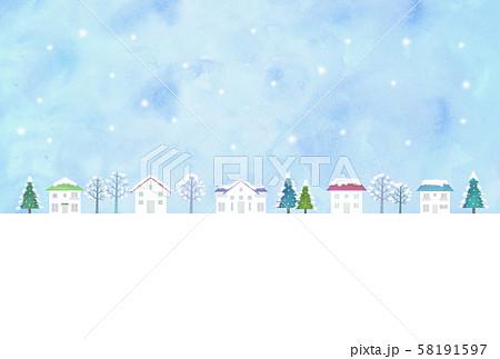 雪の街並み 58191597