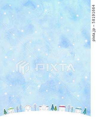 雪の街並み 58191664