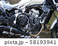 モーターサイクル 大型アメリカンバイクの洗車 58193941