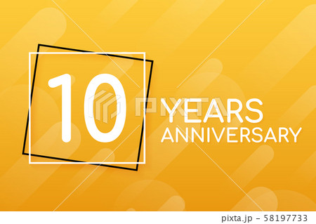 10 years anniversary emblem. Anniversary icon or 58197733