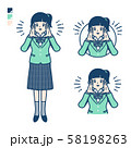 simple school girl Green Blazer_Calling out loud 58198263