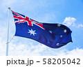 オーストラリア国旗 58205042